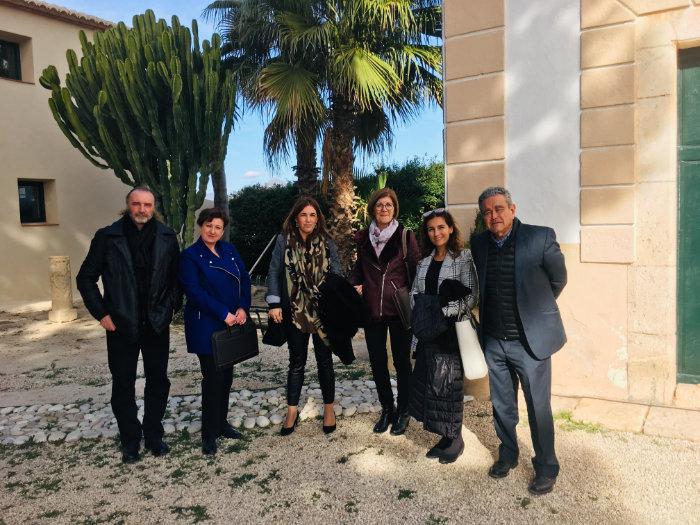 Equipo UPV visita Torre Juana