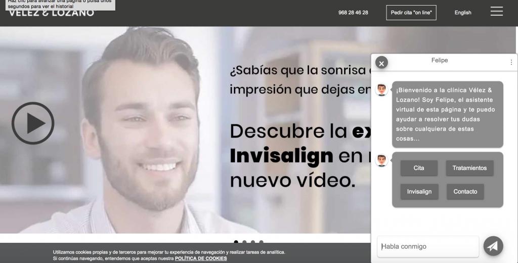 Día Mundial de la Salud Oral (20 marzo): 'Felipe' (1MillionBot.com) pionero mundial de los Asistentes Inteligentes Virtuales