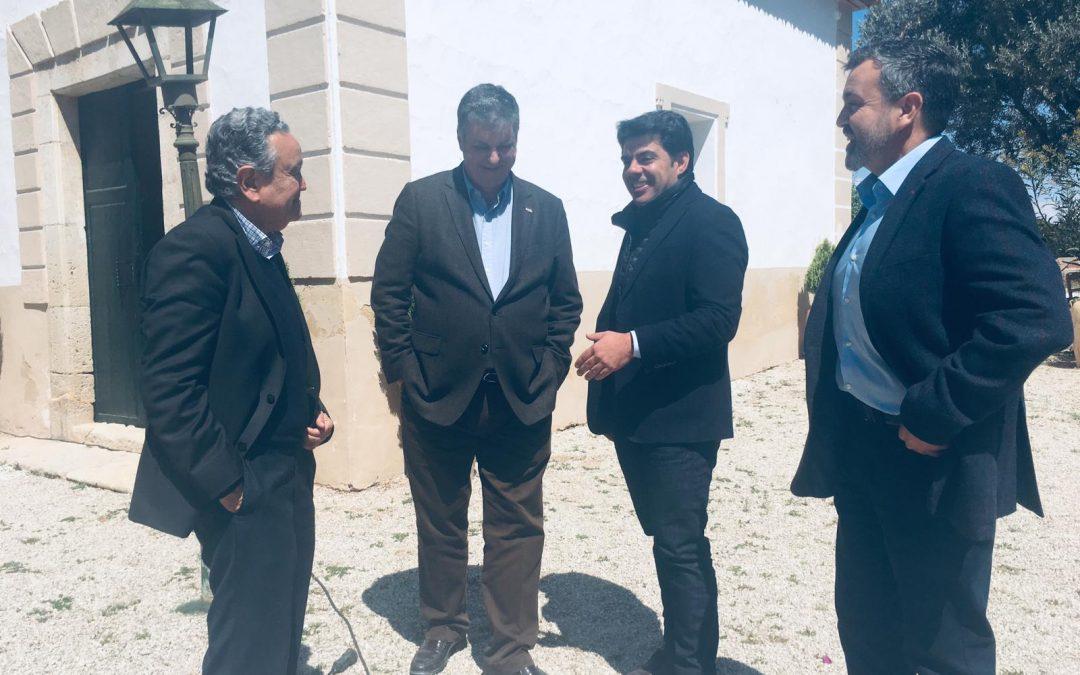 Nos visitan el Vicerrector de Innovación, Transferencia y Tecnología y el Director General de la Fundación de la UAM