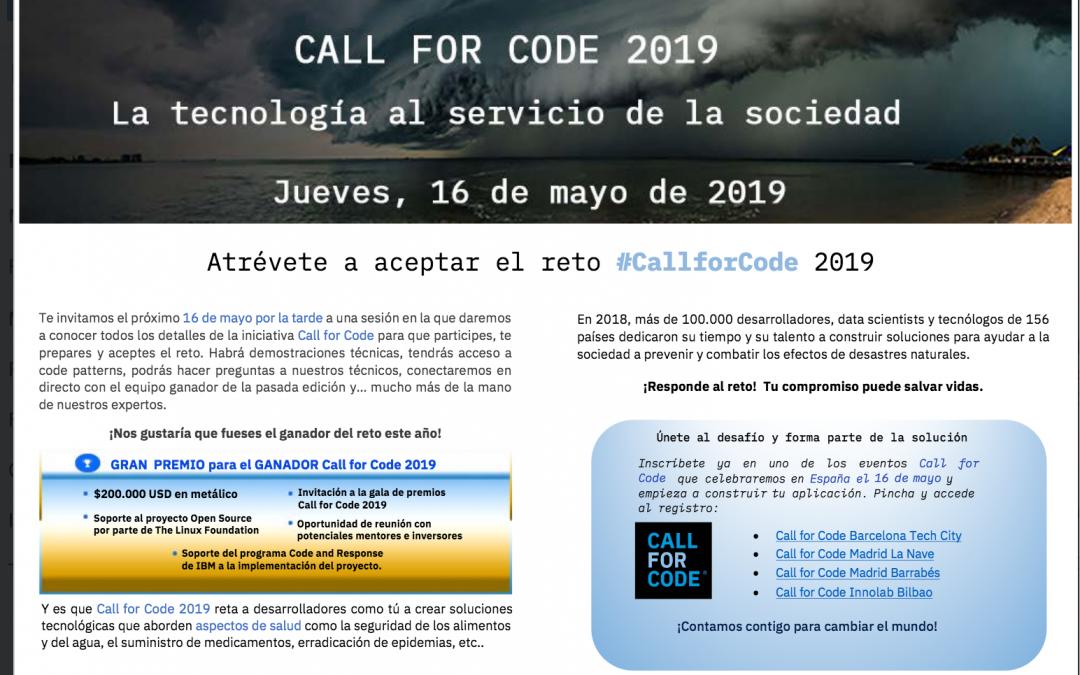 Call for Code 2019  IBM