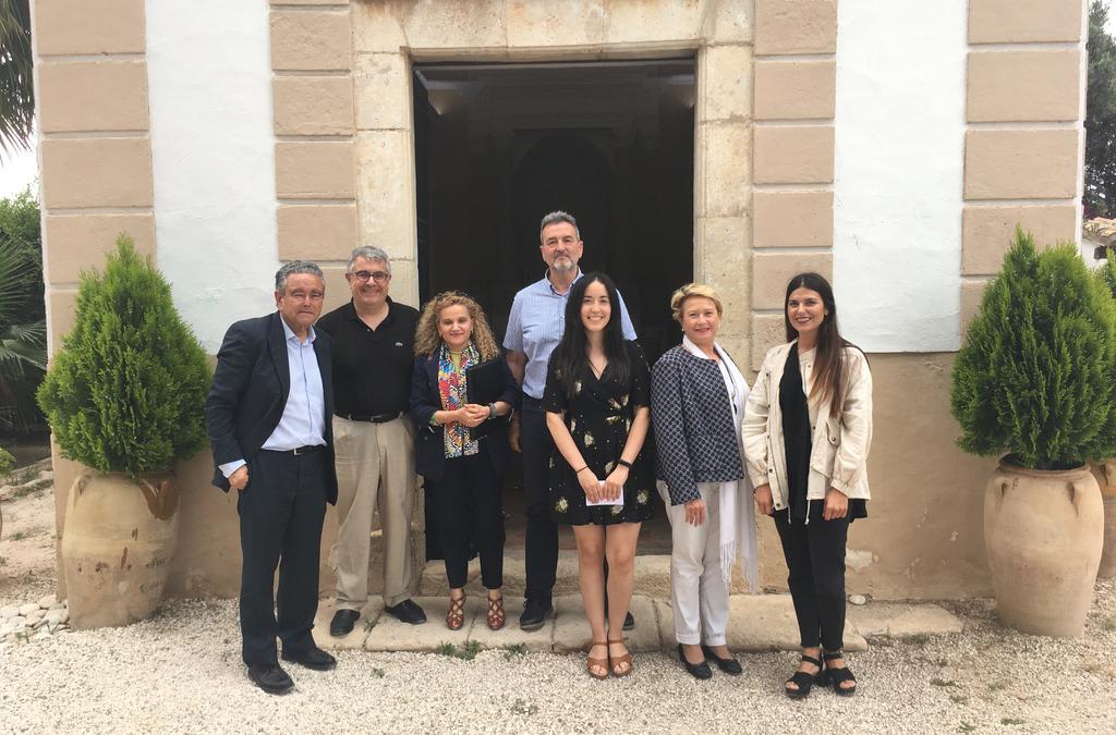 Visita del equipo de la Universitat de Valencia
