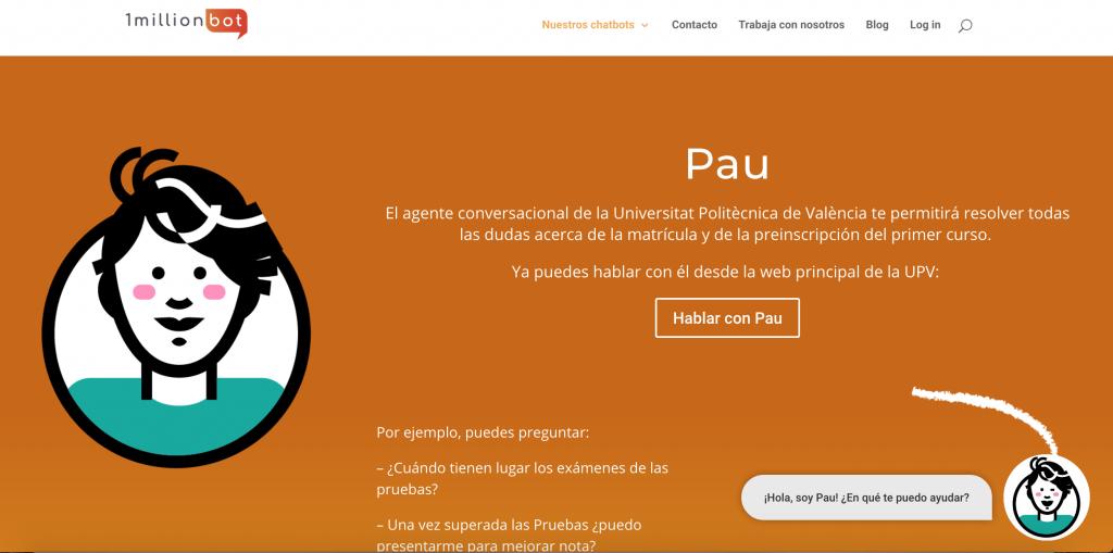 Chatbot PAU atiende a casi 7.000 alumnos de la Universidad Politécnica de Valencia en un mes