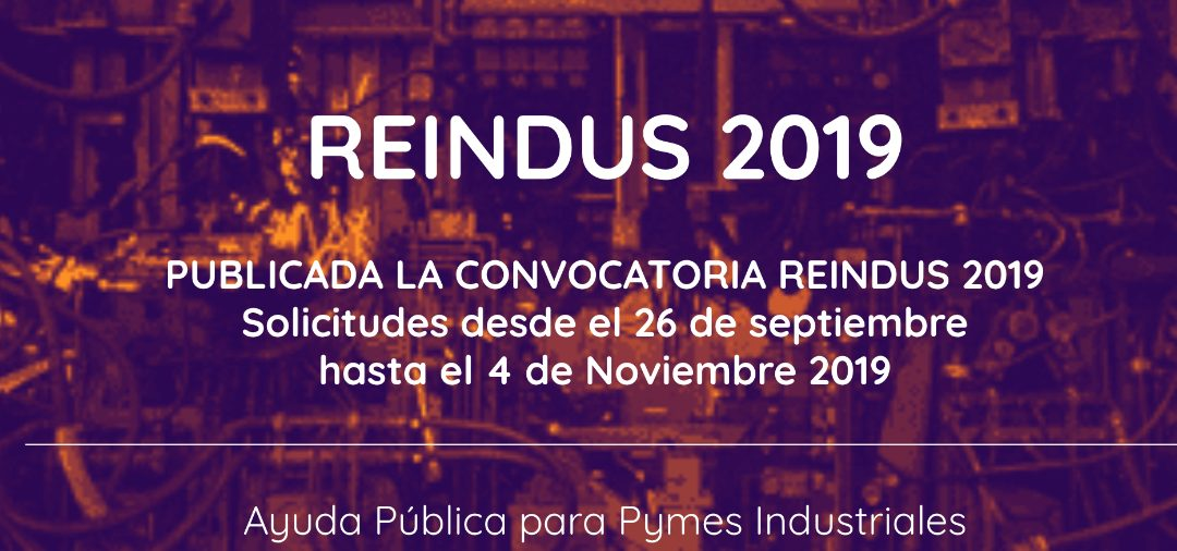 Programa Reindus 2019, financiación a la inversión industrial (e-value)