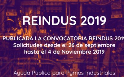 Programa Reindus 2019, financiación a la inversión industrial (e-value)