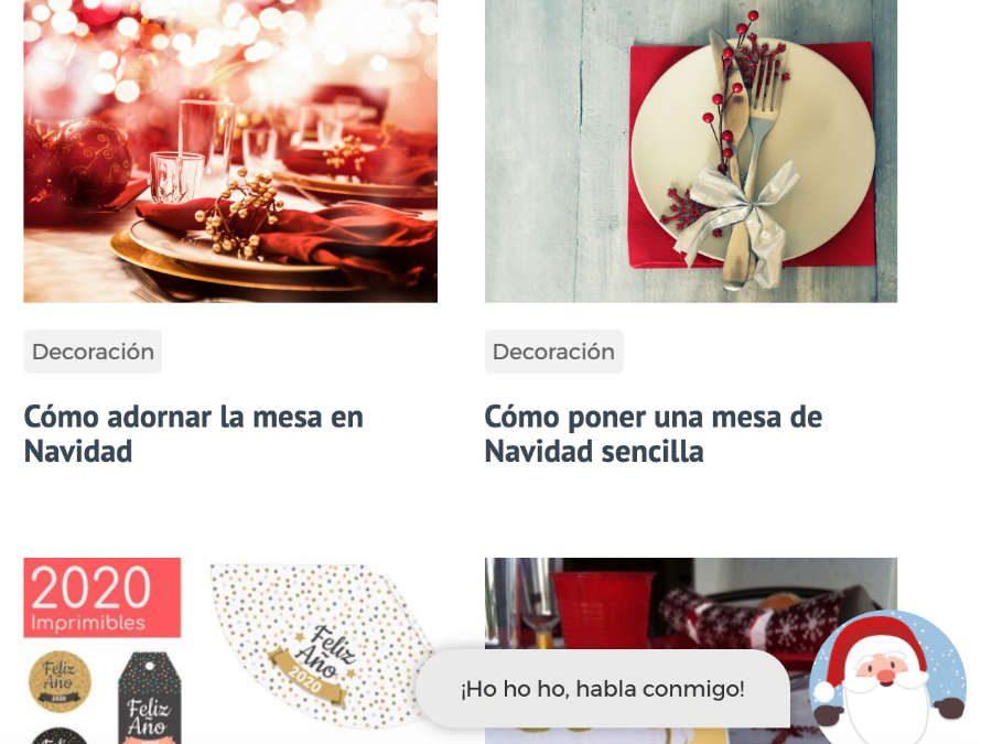Pon un Papá Noel gratis en tu página web