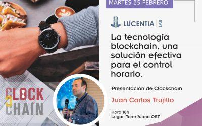 Presentación: La tecnología blockchain una solución efectiva para el control horario. Juan Carlos Trujillo