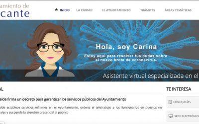 Convenio con el Ayuntamiento de Alicante:  Carina informando las 24 h a los alicantinos
