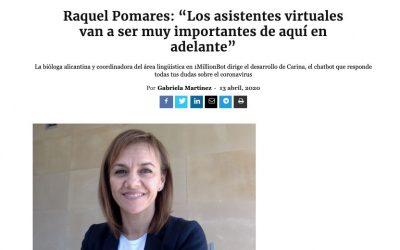 """Raquel Pomares: """"Los asistentes virtuales van a ser muy importantes de aquí en adelante"""" Entrevista  en Innova Spain"""