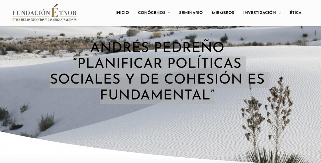 Crisis, cohesión y políticas sociales (entrevista TJ OST en Fundación Etnor)