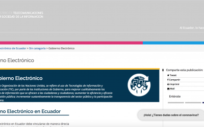 Naciones Unidas (PNUD)  encarga a 1MB el chatbot 'Catalina' para informar sobre COVID-19 en Ecuador