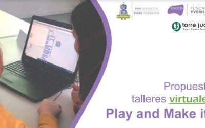 Talleres de robótica virtuales para niños y formación a formadores