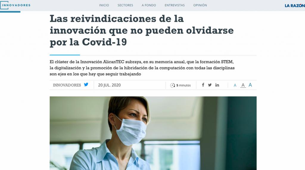 Innovadores by Indux se hace eco de la Memoria de AlicanTEC
