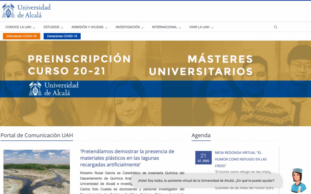 La Universidad de Alcalá presenta un nuevo asistente virtual para su página web
