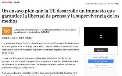 Un impuesto europeo que garantice la libertad de prensa y la supervivencia de los medios
