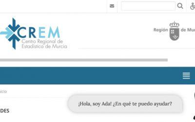 Ada el chatbot que ayuda en  las búsquedas estadísticas de la Región de Murcia