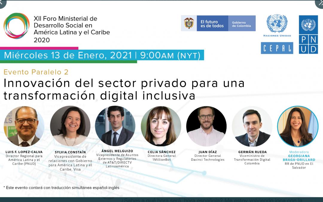 Propuestas para una transformación digital inclusiva. XVI Foro Ministerial PNUD