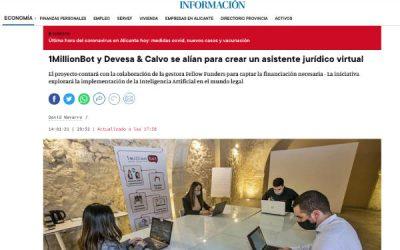 1MillionBot, Fellow Funders y Devesa & Calvo se alían para impulsar LegalTec