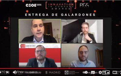 1MillionBot finalista en los premios 'Innovation in Company' (CEOE y PGS)