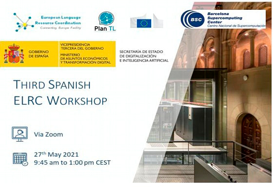1MillionBot en el Third Spanish ELRC Workshop de IA