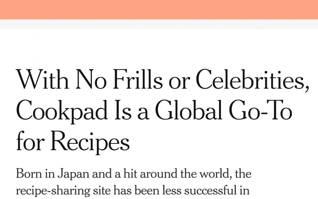 Cookpad en The New York Times