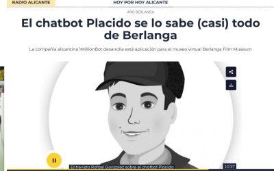 Cadena Ser: Plácido el chatbot que lo sabe casi todo sobre Berlanga