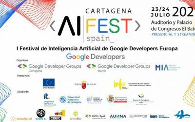 Cartagena sede del Primer Festival de Inteligencia Artificial de Google Developers en Europa