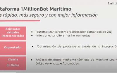 1MillionBot desarrolla una plataforma para aplicar soluciones de IA en operaciones portuarias