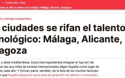 Las ciudades se rifan el talento tecnológico: Málaga, Alicante y Zaragoza (El Periódico)