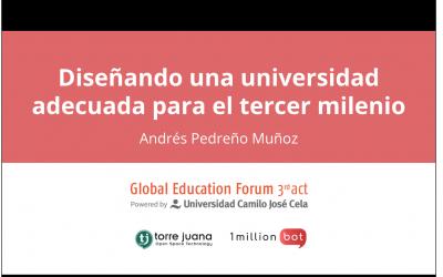 La IA en el gran debate sobre la educación superior post-covid en el Global Education Forum (SEK y UCJC)